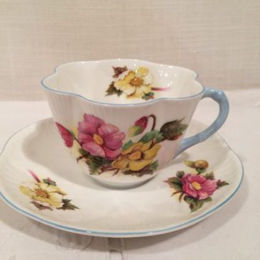 Shelley begonia teacup and saucer, Price-$60