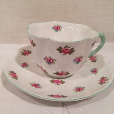 Shelley rosebud teacup and saucer