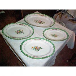 "4 Paris Porcelain platters, 13 1/2"", 15 1/2"", 17 1/2"", 19 3/4""- 1890s, Sold"