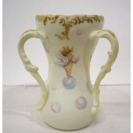 Back of T&V Limoges loving cup, with cherubs with wings catching the bubbles, ca-1900, Sold