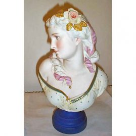 Other side of A. Carrier Belleuse French bisque bust, Sold