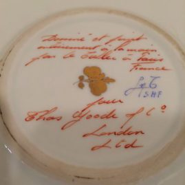 Mark on the bottom of the round Le Tallec Porcelain box