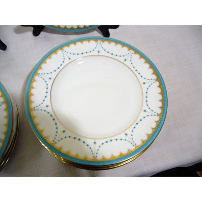 Close-up of George Jones jeweled luncheon or dessert plates-Set of 12