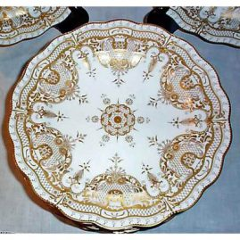 Close up of Royal Crown Derby museum quality dinner plate, Sold