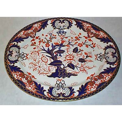 plate frame A very desirable royal crown derby  vine cobalt 27cm plate in antique wooden