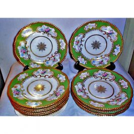 11 Limoges dinner plates, D&Co, 1894-1900