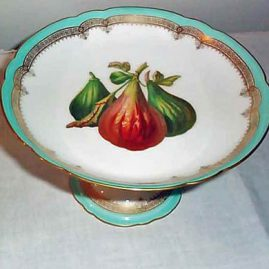 "Paris fig compote, 9"" wide by 5 1/2"" tall, CH Pillivuyt & Co, Paris, Exp 1867, Medaille D'or, Sold"
