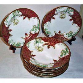 8 Haviland Limoges soup bowls, 1893-1930