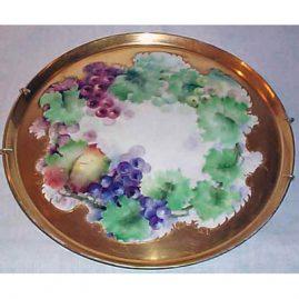 Limoge grape plaque, Tressemann & Voyt