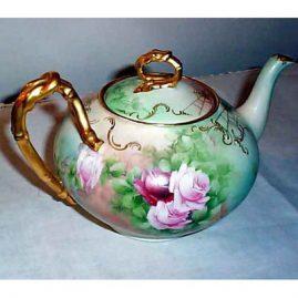 Back of Limoges teapot, sold