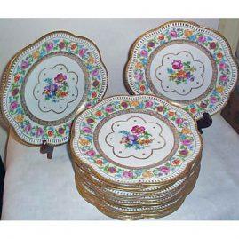 12 Schumann Bavarian reticulated dinner plates