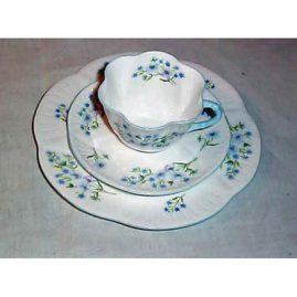 Shelley 3 piece cup and saucer set, Sold, but many other Shelley 3 piece patterns available