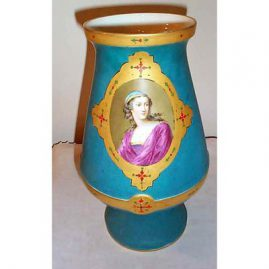 Paris portrait vase, ca-1870s, 11 1/2 inches, $895.00