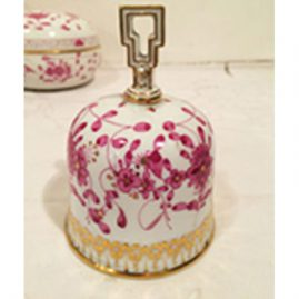Meissen purple Indian bell. Circa-1880s, 4 1/2 inches tall. Price on Request