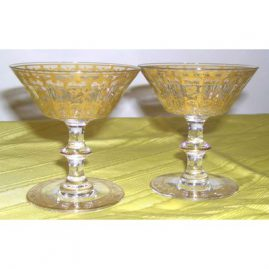 11 gilded French champagnes, 4 inches tall, $110.00 each