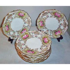 12 Copeland reticulated luncheon or dessert plates, 8 3/4 inches, Sold