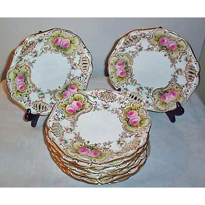 12 Copeland reticulated luncheon or dessert plates