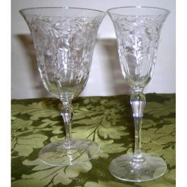"Hawkes stemware: 13 wines or waters-6 1/4"",, 11 tall stem cordials-6"", Sold"