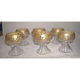 """6 Moser goblets, 3 1/4"""", Sold"""
