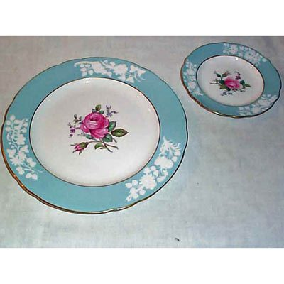 Spode Old Colony Rose dinner and bread plates, service for ten