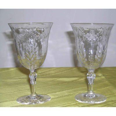 8 crystal Stuart wheel cut wines or waters