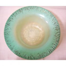 "Large LCT Tiffany Favrile bowl in beautiful colors. Size-13"" wide by 4 1/2"" tall, marked a813, Sold."