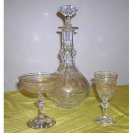Val St Lambert Stemware and decanter