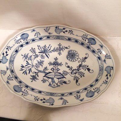 Large Meissen blue onion platter