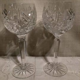 Set of seven Waterford pineapple hospitality goblets