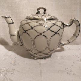 Lenox silver overlay teapot