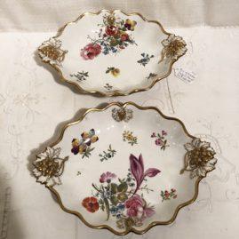 Pair of Coalport bowls with raise grape decoration