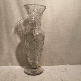 Tall Dorflinger wheel cut vase