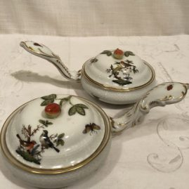 Set of six rare Rothschild bird Herend pot de cremes
