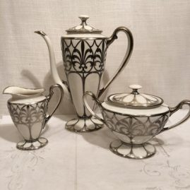 Lenox silver overlay coffee set