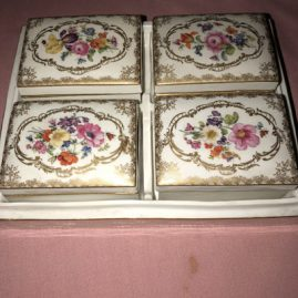 Picture of the four Meissen boxes inside the previous Meissen box.