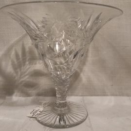 Pairpoint cut and engraved sweet pea vase