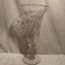 Pairpoint Adelaide vase with bubble stem