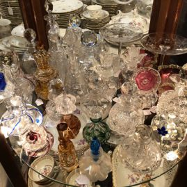 Fabulous Collection of antique glass perfumes
