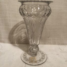 Signed Libbey vase with wheel cutting