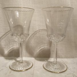 Set of ten St Louis water goblets