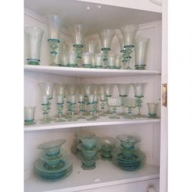 Rare Salviati Venetian stemware