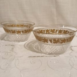 Set of 11 Val Saint Lambert crystal bowls