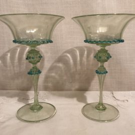 Set of 9 Salviati Venetian coupes or champagnes
