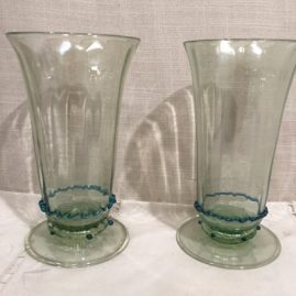 Set of 10 Salviati Venetian tall tumblers