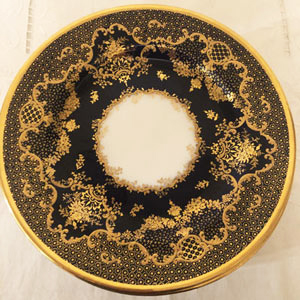 Set of 10 Spode Copeland Dessert or Luncheon Plates With Raised Gilding