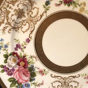 Set Of Four Limoges Artist Signed Dinner Plates