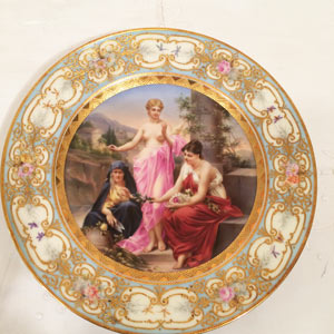 Royal Vienna Plate of the Three Graces