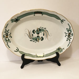 Large Meissen Green Court Dragon Platter