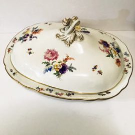 Large Meissen Covered Bowl