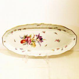 Antique Meissen fish platter